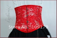 Free Shipping! 18CM Hot Red Waist Cincher Fast Slim 4 Inches Off Waist Fully Steel Boned Corset Bustier