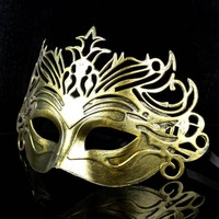 Wholesale High Quality Dance Men Mask Fashion Ancient Rome Gladiator Half Face Crowne Masks 50pcs/lot + Free shipping