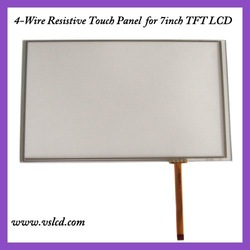 7 inch 4 wire resistive touch screen panel 7inch touch panel work for 7inch tft as HSD070IDW1 AT070TN92 AT070T90(China (Mainland))