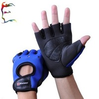 man weight lifting half finger leather glove bodybuilding training equipment sport fitness gloves