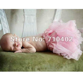 Hot Sale!new born light pink Flower Girls Fluffy Dress Pettiskirt Birthday Skirt