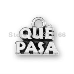 Free Shipping Antique Silver Series Que Pasa DIY Initial Letter Charms ( 185060 )