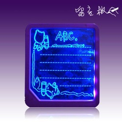 free shipping children toy led writing board led tablet led advertising board Light tablet Fluorescent magnetic Message Board(China (Mainland))