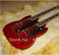 Wholesale Double neck guitar EDS-1275 Red Electric Guitar
