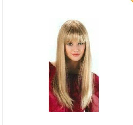 European-style New COS Mixed golden 60CM successful lady real wig Christmas Day adorn Wigs+gift(China (Mainland))
