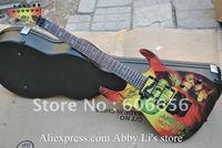 2011 HOT SALE Kirk Hammett Metallic ESP KH2 M-II Mummy Karloff Tlmummy Electric Guitar