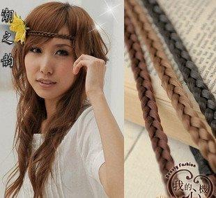 1pcsfree shipping Full38Korea New choking on small chilli single tails hoop false braid headband, hair accessoriesdropship