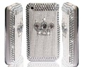 Moq:1Pcs Sliver Crown Diamond Case For iPhone 3G 3GS Free shipping