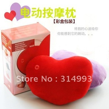 Free shipping A heart type electric massage pillow massage cushion, health care product