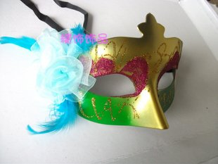 hole sale 14pcs/lot New Arrival Italy Crack Half Face Mask pvc six color,halloween party Mask[Free Shipping]