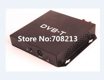Car dvb-t receiver digital TV reciever DVB-T MPEG-4/H.264 receiver with Double Digital TV Antennas, free shipping