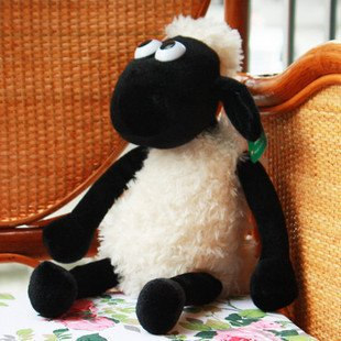 Candice guo! Hot sale very cute sheep creative plush toy stuffed toy doll Shaun the sheep 45cm 1pc