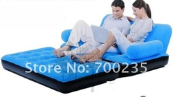 free shipping Inflatable sofa / sofa bed / air mattress/ 5 In 1 Color sofa bed 67356(China (Mainland))