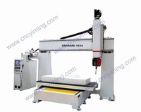 Italy HSD7.5kw two rotary+Small five-axis CNC processing center/cnc router+YMMS1224(Talk about price with Email)