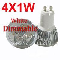 10PCS Dimmable 4W 4X1W GU10 LED White Dim Bulb Energy Saving Spotlight 85-265V