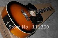 New J200VS SJ200 SUNBURST acoustic electric guitar free shipping