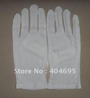 20 pairs White color  100% cotton encryption type gloves