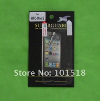 50pcs/lot&free shipping Clear LCD Screen Guard Protector Shield Film For HTC ONE S  NEW
