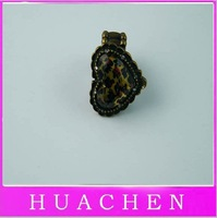 Leopard grain love elastic ring    Free shipping