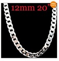 Free shipping 12mm*20&#39;&#39; Wholesale surprising   men&#39;s 925 sterling silver snake chain necklace LCHN 010