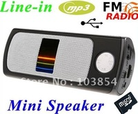 USB Mini Speaker MP3 Player Amplifier support Micro SD TF Card USB Disk FM Radio free shipping