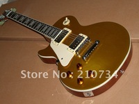 Wholesale - Best-selling left hand electric guitar Gold top metal signature LP Free shipping
