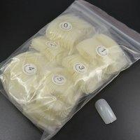 Free shipping - 500 Natural False Nail Tips Acrylic Artificial Half Nail Tips