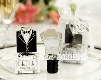 Factory directly Wedding wine stopper bride and groom  20pcs/lot