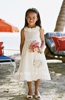 free shipping new styles custom made white organza flower girl dress