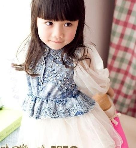 Free shipping kids dress 2012 new arrival Fashion vest girl dress for summer,white color,5pcs/lot