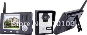 3.5' TFT wireless color video door phone/ video intercom systems/video door bell ( 1outdoor camera with 2 indoor monitors