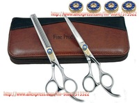 "EMS Freeshipping6"" Blue Diamond Screw Barber Scissors,Hairdressing Scissors,Hair Cutting Shears, Beauty Hair Shears,Chinese 440C"