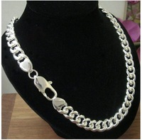 Free shipping 10mm*30'' Wholesale surprising   men's 925 sterling silver snake chain necklace
