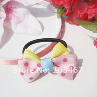 wholesale price! 5 colors 5.5cm butterfly satin hair jewelry nice design-free shipping