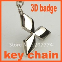 Logo car keyring 3D badge keychain keychains key chain with gift box for 20 PCS Free Shipping