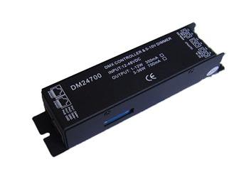 dmx constant current dimmer;DC12-24V input,350ma/700ma*1 channel output