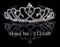 Free shipping Flower Pendants Rhinestone Crown Tiara Hair Headband Comb LKT0037 Drop shipping