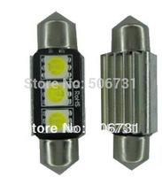 Canbus LED Festoon 3SMD 36mm bulb LED C5W 5050 Roof Light White 50pcs/lot