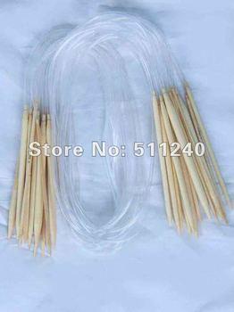 "1X18 Sizes40""100CM Circular Bamboo Knitting Needles  free shipping"