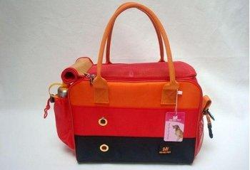 2015 Fashion Dog Bag Carrier,Cat,dog,Pet Carrier pet bag.pet Supplies.red stripe dog handbag free shipping 2pcs/lot