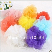 Wholesale FREE SHIPPING Cool ball bath flower bath towel ball Bath & Body Works Exfoliating Mesh Shower Sponge