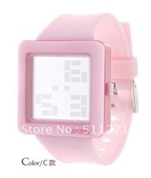 Fashion Brand New Style Cool LED watch PINK Color