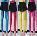 Hotsale women`s chiffon cotton shirt pants  elastic  legging many colors culotte  tights for girls Free shipping
