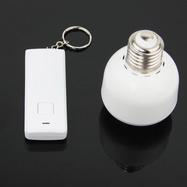 remote control wireless light switch e27 light bulb holder adapter. Black Bedroom Furniture Sets. Home Design Ideas