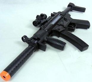 B1pcsfree shipping Large64CMInfrared light and sound electric gun Children's toy gun Check gun Submachine gun modeldropship