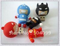 Free Shipping Cool Bat man Shape 32GB  USB 2.0 Flash Memory Pen Drive USB flash disk