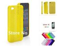 Ultra thin Breathable shell radiator shell For Apple iPhone 4 4G+FREE SHIPPING