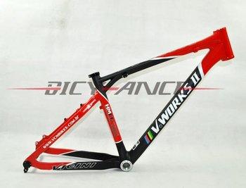 """V WORKS VICINI carbon fiber mtb bicycle frame 045/17""""/19""""/21""""/black&red"""