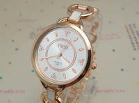free shipping 5 colors Top Quality stainless steel white band women watch fashion quartz watch for giftRQ0062