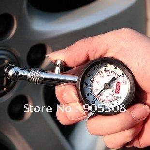 Car Dial Tire Gauge Stainless Steel Tire Pressure Gauge Meter Pressure Tyre Measure